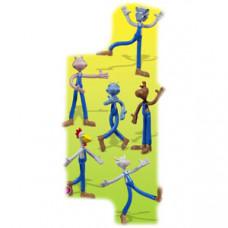 Игрушка-фигурка СКОТНЫЙ ДВОР пластик, 120шт (6шт в коллекции)
