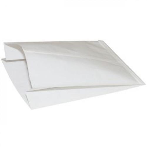Пакет 290х140x60мм плоское дно бумага белый, 1000шт