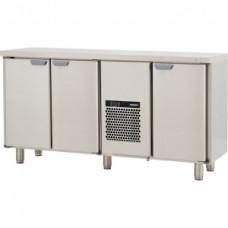 Модуль барный холодильный, 1660х550х900мм, без борта, 3 двери глухие, ножки 140мм, +5/+15С, нерж.сталь, агрегат центр.