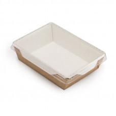Коробка универсальная с пластиковой крышкой 1000мл бумага крафт