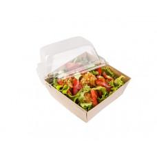 Контейнер ECO PRIZMA 550 универсальный  с пластиковой крышкой бумага крафт