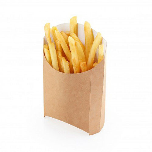 Коробка для картофеля фри 105x50x110мм Крафт бумага
