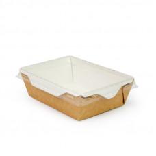 Коробка универсальная с пластиковой крышкой 350мл бумага крафт