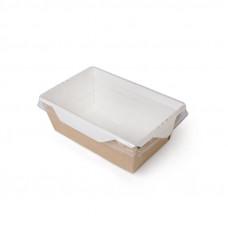 Коробка универсальная с пластиковой крышкой 450мл бумага крафт