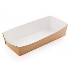 Лоток 165х70х40мм бумага крафт/белый