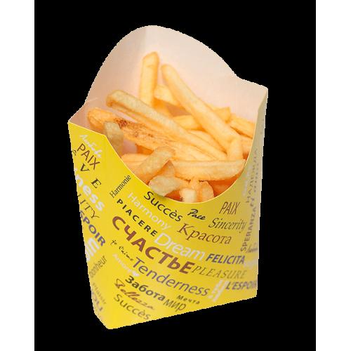 Коробка для картофеля фри 90x34x125мм Fiesta бумага