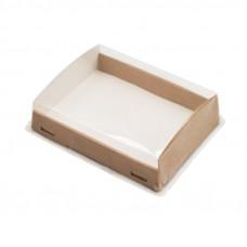 ECO OpBox 1000 Коробка универсальная с пластиковой крышкой 1000мл бумага крафт