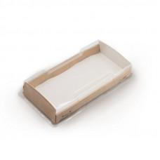 ECO OpBox 600 Коробка универсальная с пластиковой крышкой 600мл бумага крафт