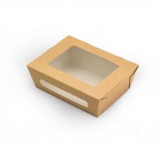 Коробка универсальная с окном 600мл бумага крафт