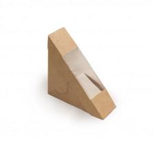 Коробка для сэндвича 130x130x50мм картон крафт