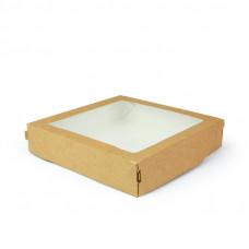 Коробка универсальная с окном 1500мл бумага крафт