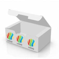 Коробка для наггетсов, крылышек, картофеля фри 116х75х45мм бумага с ЛОГОТИПОМ