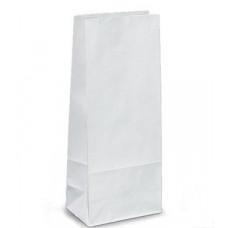 Пакет 170х80х50мм прямоугольное дно бумага белый