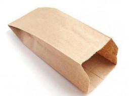 Пакет 250х140х60мм плоское дно бумага крафт