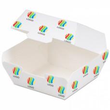 Коробка для гамбургера 117х136х70мм бумага с ЛОГОТИПОМ