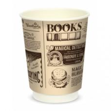 Стакан для горячих напитков двухслойный Magic News 300мл бумага Крафт