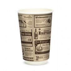 Стакан для горячих напитков двухслойный Magic News 400мл бумага Крафт