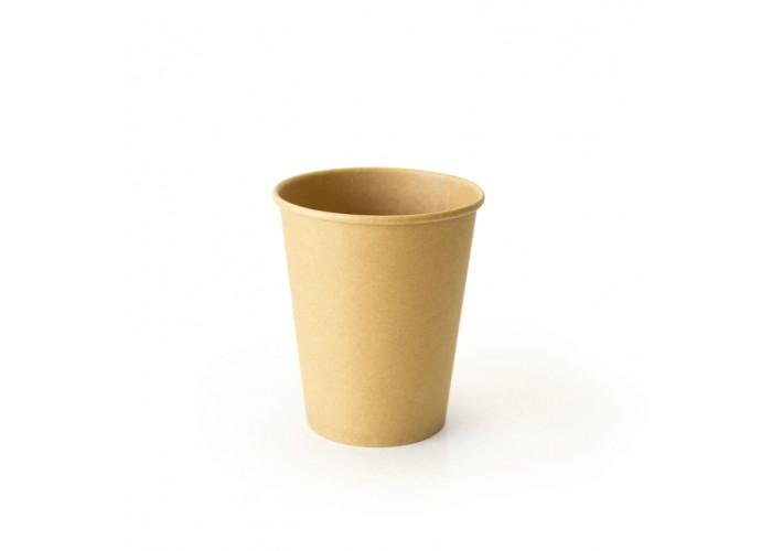 Стакан бумажный для горячих напитков Крафт двухсторонний 250мл
