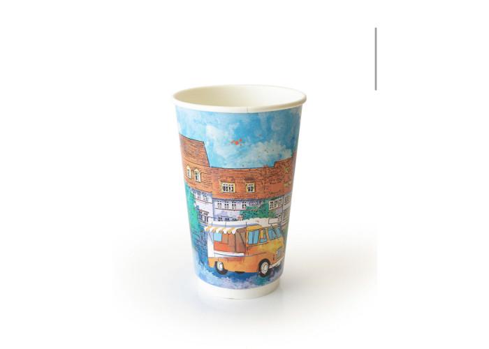 Стакан бумажный для горячих напитков двухслойный BIG CITY LIFE 400мл