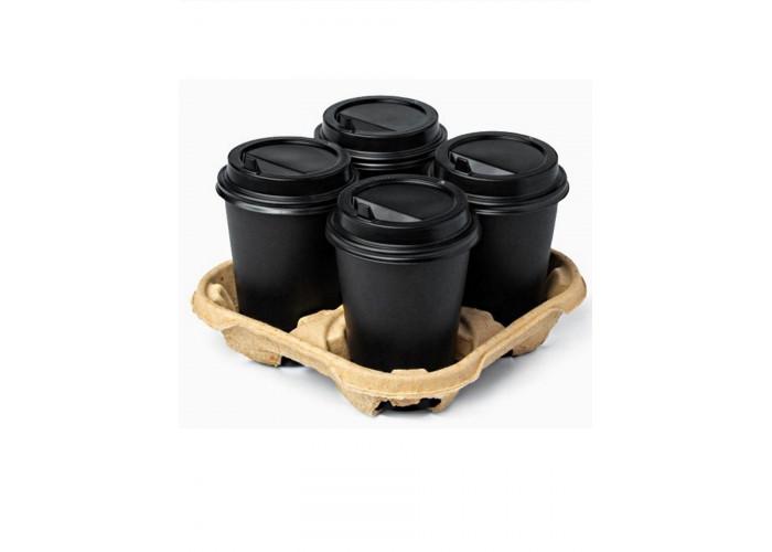 Стакан бумажный для горячих напитков TOTAL BLACK 250мл черный