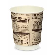 Стакан для горячих напитков двухслойный Magic News 250мл бумага Крафт