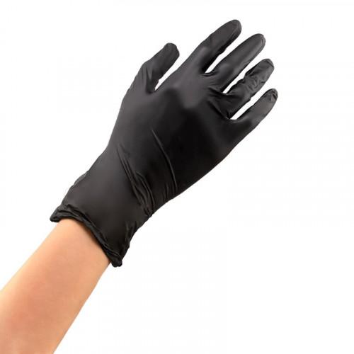 Перчатки нитриловые чёрные , размер L, упаковка 100 шт