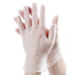 Перчатки виниловые прозрачные, размер M, упаковка 100 шт